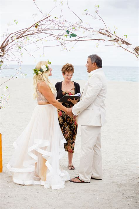 beachfront vow renewal  carmines ocean grill  palm
