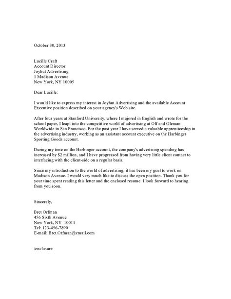 account executive resume cover letter