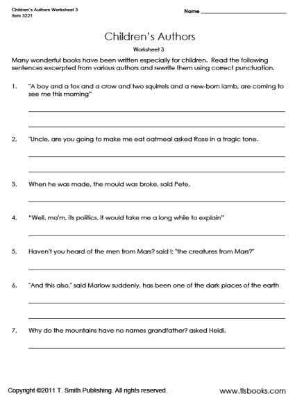 17 best images of punctuation practice worksheets
