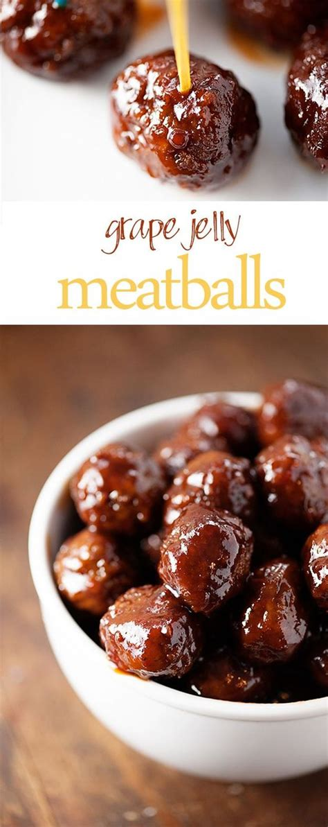 ketchup and grape jelly meatballs crock pot christmas parties appetizer recipes and grape jelly on pinterest