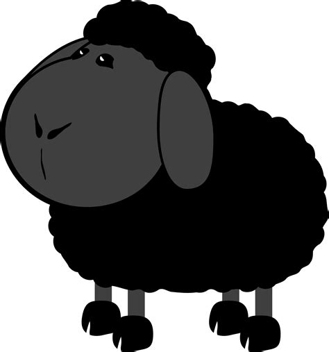 black sheep rural animal clip art  image