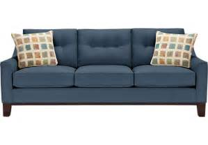 montclair indigo sofa classic contemporary microfiber