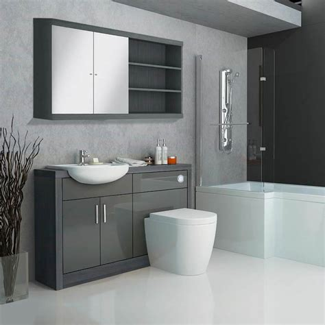 hacienda fitted furniture pack grey buy   bathroom