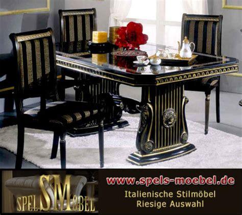 Italienische Möbel Hamburg by Luxus M 246 Bel Esszimmer Wohnzimmer Rossella Schwarz Gold