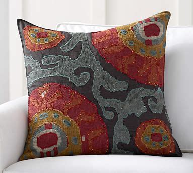 Houston Pottery Barn by Houston Cropped Suzani Pillow Cover Pottery Barn