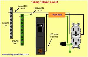 Wiring Diagram For A 15 Amp Circuit Breaker In 2019