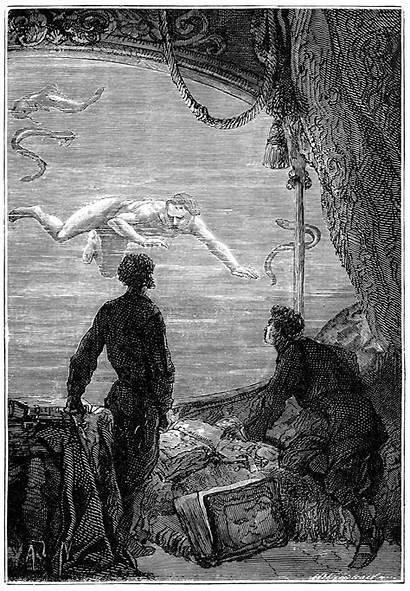 Verne Jules Sea Under Illustrations Leagues Books
