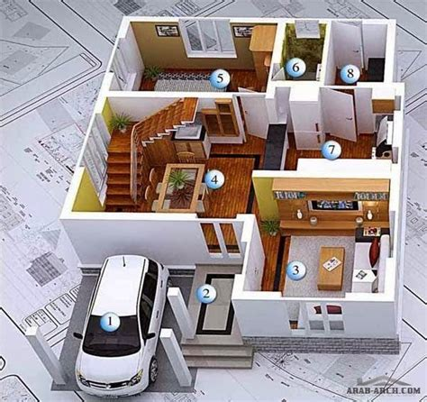 3d Modern House Plans Projects Collection  Architecture