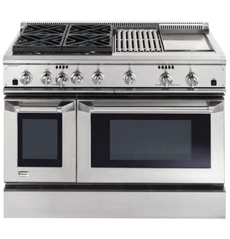 ge monogram  dual fuel professional range   burners grill  griddle liquid propane