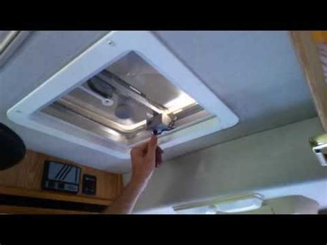 rv ceiling fan installation install a new replacement rv roof fan vent part 4 youtube