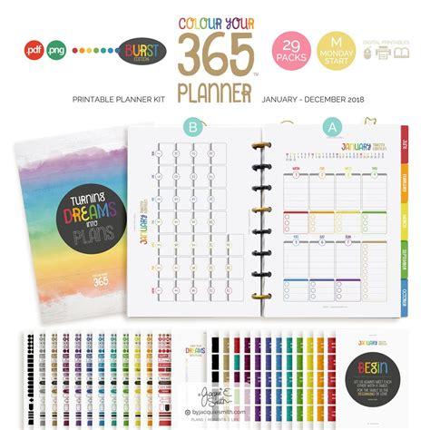 medium colour   planner kit monday start