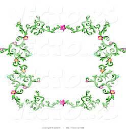Green Flower Border Clip Art