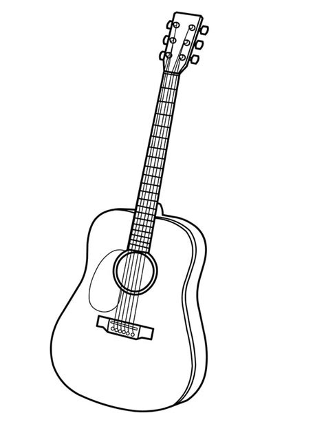 guitar coloring pages  print coloring pages