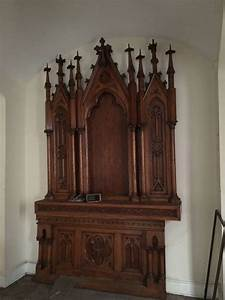 The Home Inventory Antique Gothic Church Altar Obnoxious Antiques