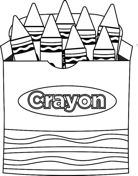 lets draw picture box crayons coloring pages lets draw