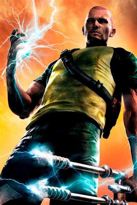 Download Infamous 2 Cole Macgrath With Amp Wallpaper For