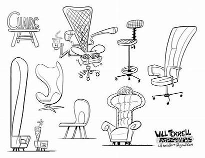 Prop Animation Drawing Cartoon Props Chair Concept