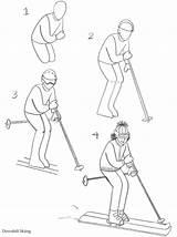 Skiing Getdrawings Drawing sketch template