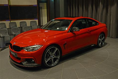 red bmw red bmw 435i coupe m sport drops by abu dhabi dealership