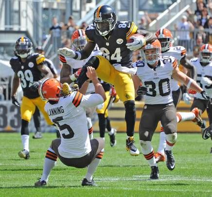steelers browns ab kick antonio brown triblive pittsburgh steeler nation face chaz beat football overwhelming felt must half kicks attempting