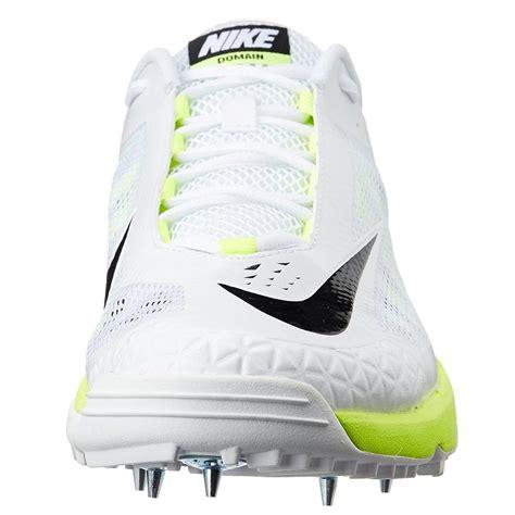 nike domain cricket spike shoes white  green buy nike