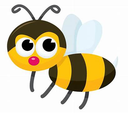 Bee Clip Bumble Cartoon Bees Clipart Cliparting