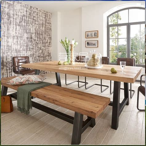 hot american style dining table wood tea table desk wood