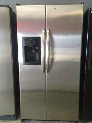 stainless ge side  side refrigerator appliance max
