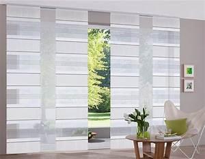 Schiebegardinen Grau Weiß : 2 st schiebegardine schiebevorhang 57 x 245 sand streifen ~ A.2002-acura-tl-radio.info Haus und Dekorationen