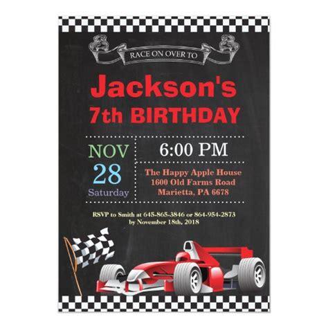 Race Car Birthday Invitation Boy Birthday Party