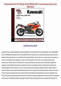 Kawasaki Er 6f Ninja Er6f 2009 2011workshop S By