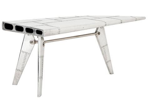 bureau avion casa padrino luxus designer schreibtisch aircraft wing