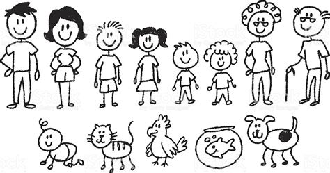 stick people family  clip art