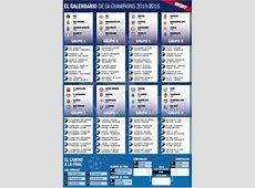 Así queda el calendario completo de la Champions League