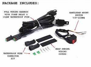 Complete Universal Motorcycle Spot    Fog Light Wiring Kit