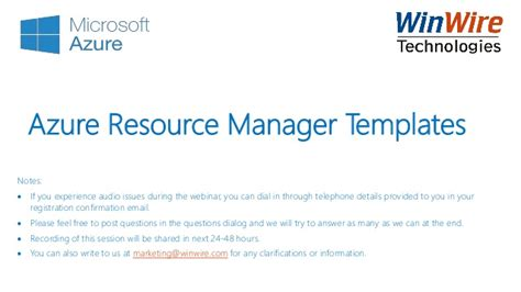 azure resource manager template azure resource manager arm templates