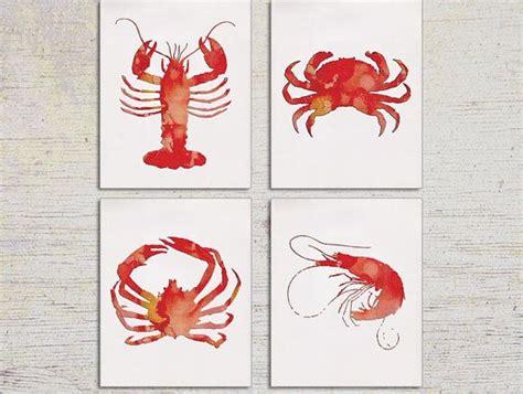 lobster kitchen accessories kitchen kitchen decor lobster print shrimp wall 3831