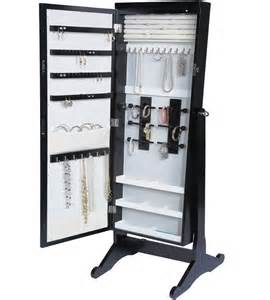 standing mirror jewelry armoire in jewelry armoires