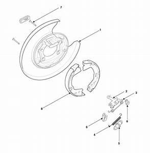 Hyundai Sonata  Parking Brake Assembly  Components And