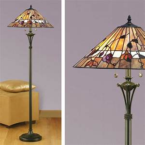 The gallery for gt charles rennie mackintosh rose for Boardwalk tiffany floor lamp