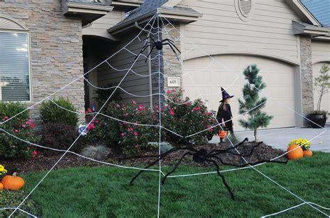 oversized outdoor decorations mega yard spider web outdoor yard decor 3907