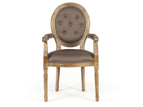 chaise avec accoudoirs chaise médaillon avec accoudoirs en polyester et bois