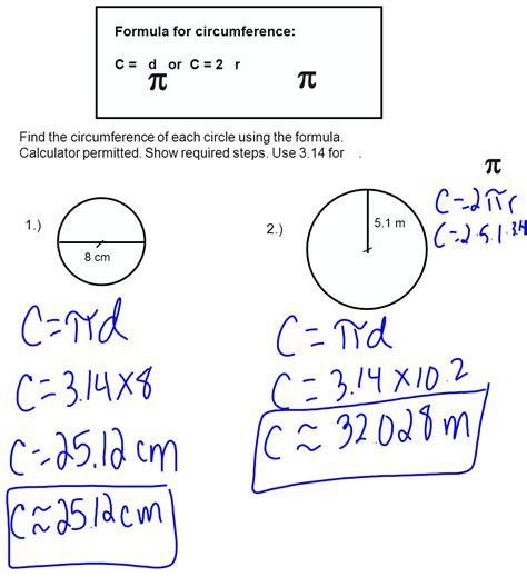 Circumference Of A Circle Formula Clipground