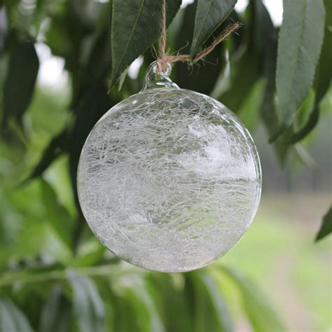 diacm clear glass christmas balls  glass thread