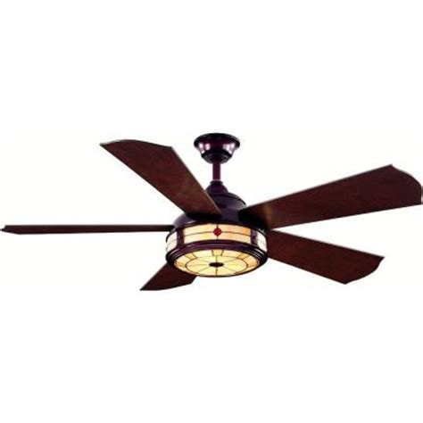 hton bay ceiling fan stained glass hton bay savona 52 in weathered bronze ceiling fan