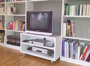 Bücherwand Mit Tv : bibliothek mit tv rollcontainer 1 unikate mit ~ Michelbontemps.com Haus und Dekorationen