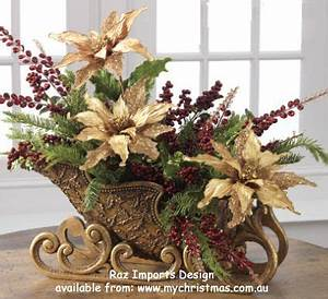 Christmas Sleighs as Table Pieces