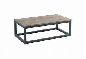 Table Basse Metal Et Bois : table basse m tal et bois factory h39 mobilier ~ Teatrodelosmanantiales.com Idées de Décoration