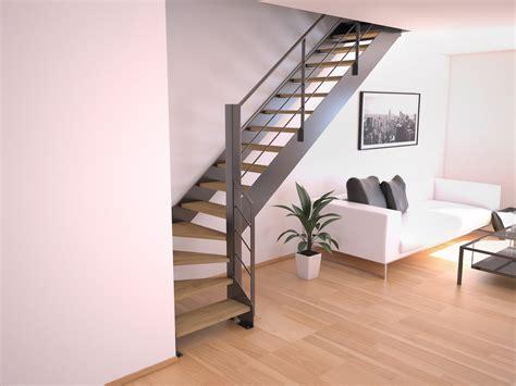 escalier bois metal pas cher acheter un escalier quart tournant en m 233 tal stairkaze