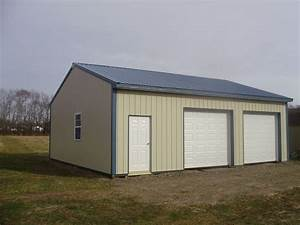 108 best two car garages images on pinterest car garage With 4 car pole barn